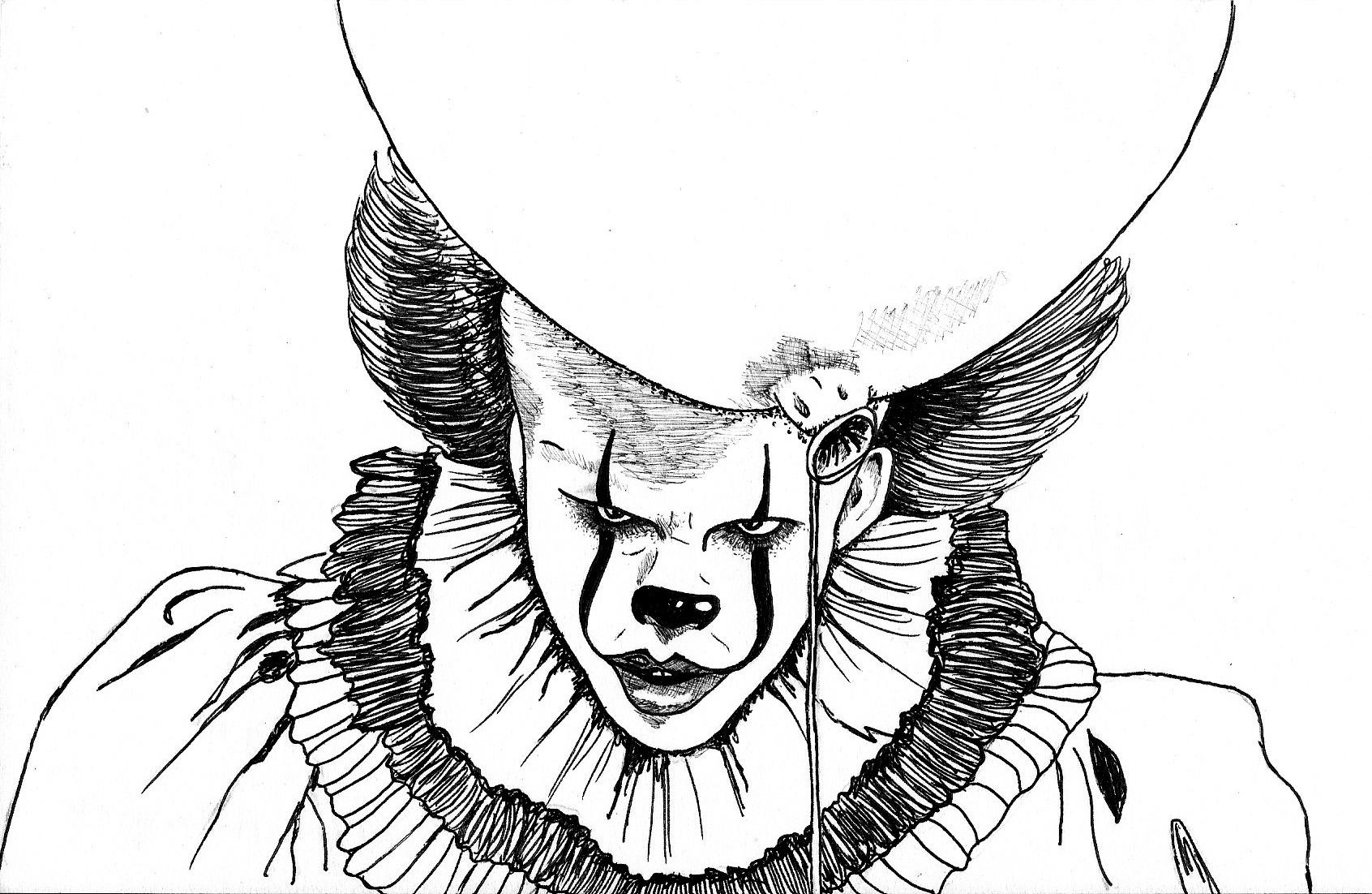Раскраски клоуна оно распечатать