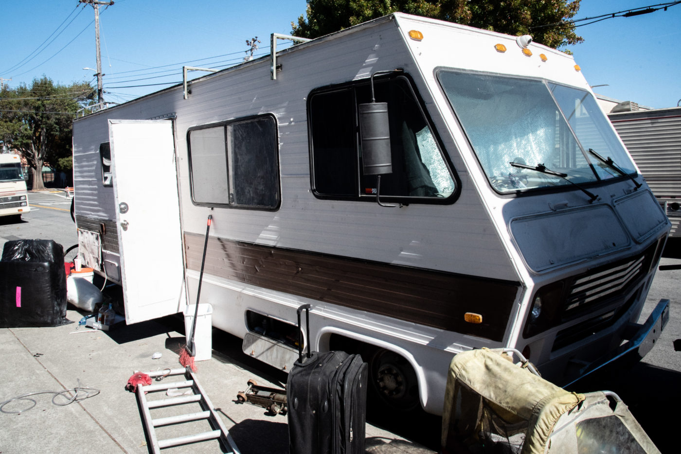 Chris's RV is currently undergoing repairs, and is currently used for storage